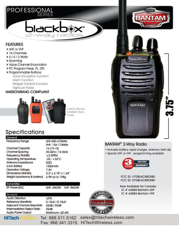 Blackbox Bantam Data Sheet JPG
