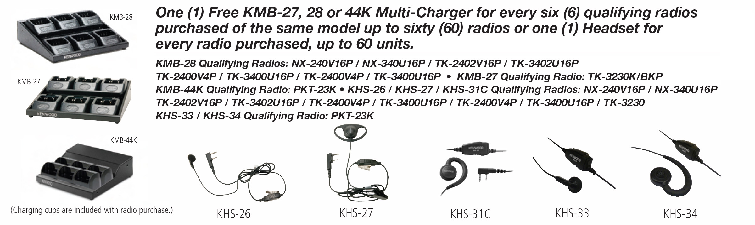 Kenwood Rebate Charger Earpiece Options