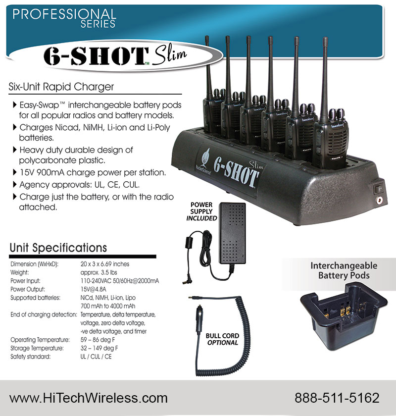 6 Shot Slim multi charger data sheet